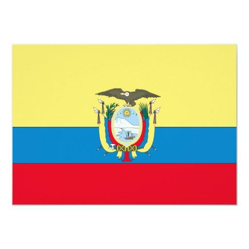 "Ecuador Flag 5"" X 7"" Invitation Card"