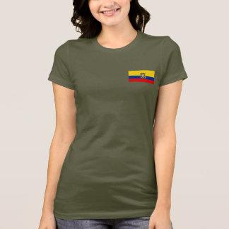 Ecuador Flag and Map dk T-Shirt