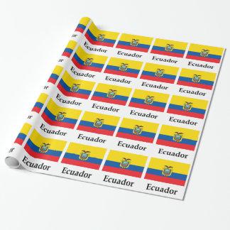Ecuador Flag And Name Wrapping Paper