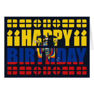 Ecuador Flag Birthday Card