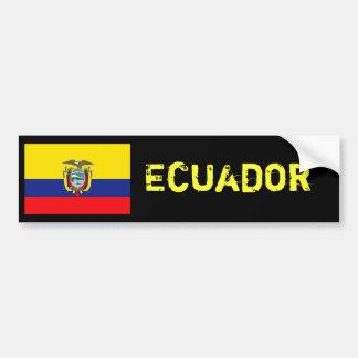 Ecuador flag bumper car bumper sticker