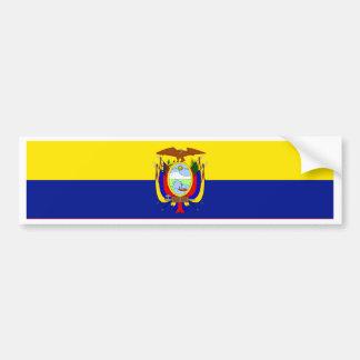 Ecuador Flag Car Bumper Sticker
