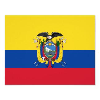 Ecuador flag card