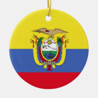 Ecuador Flag Ceramic Ornament