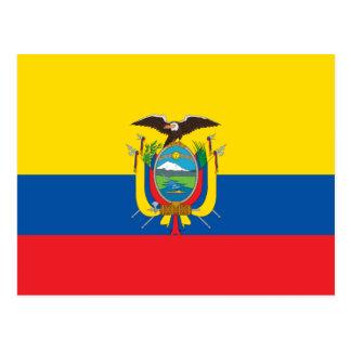 Ecuador Flag EC Postcard