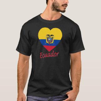 Ecuador Flag Heart T-Shirt