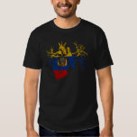 Ecuador Flag in Real heart T Shirt