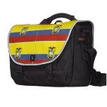 Ecuador flag laptop messenger bag