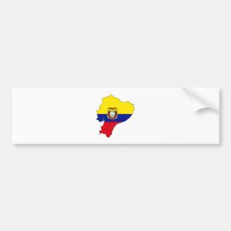 Ecuador Flag Map full size Car Bumper Sticker