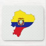 Ecuador Flag Map full size Mouse Pad