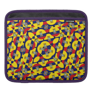 Ecuador Flag Modern Pattern iPad Sleeve