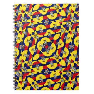 Ecuador Flag Modern Pattern Spiral Notebooks