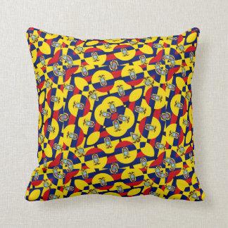 Ecuador Flag Modern Pattern Throw Pillows