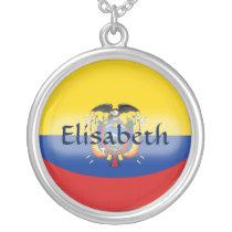 Ecuador Flag   Name Necklace