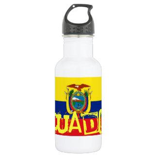 Ecuador flag 18oz water bottle