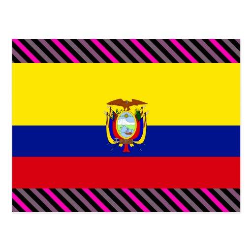 Ecuador Flag Postcard
