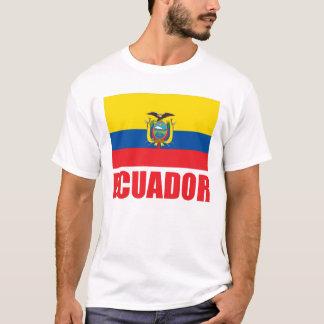 Ecuador Flag Red Text T-Shirt