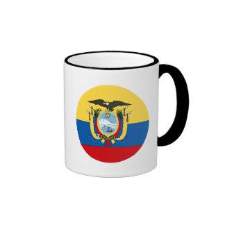 Ecuador Flag Ringer Mug