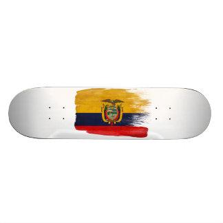 Ecuador Flag Custom Skate Board