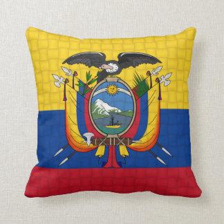 Ecuador flag throw pillow