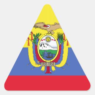 Ecuador Flag Triangle Sticker