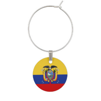 Ecuador Flag Wine Charm