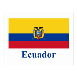 Ecuador Flag with Name Postcard