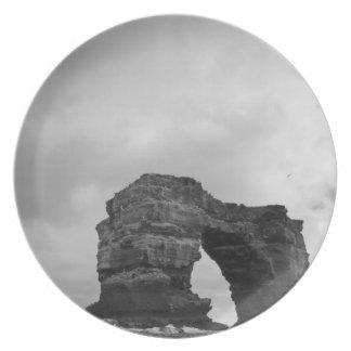 Ecuador, Galapagos Islands, Darwin Island, Waves Melamine Plate