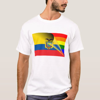 Ecuador Gay Pride Rainbow Flag T-Shirt