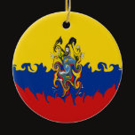 Ecuador Gnarly Flag Ceramic Ornament