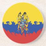 Ecuador Gnarly Flag Coaster