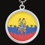 Ecuador Gnarly Flag Silver Plated Necklace