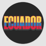 Ecuador grande pegatina