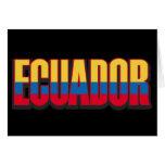 Ecuador grande tarjeta