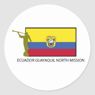 Ecuador Guayaquil North Mission CTR LDS Classic Round Sticker