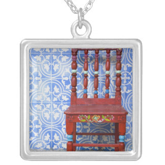 Ecuador. Highland town of Otavalo. Historic Silver Plated Necklace