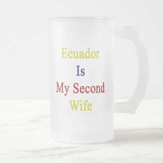 Ecuador Is My Second Wife Frosted Beer Mugs
