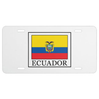 Ecuador License Plate