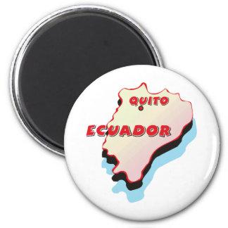 Ecuador Map 2 Inch Round Magnet