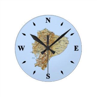 Ecuador Map Clock