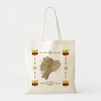 Ecuador Map + Flags Bag