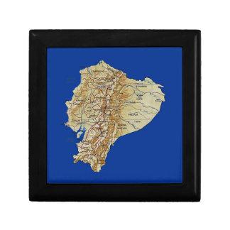 Ecuador Map Gift Box