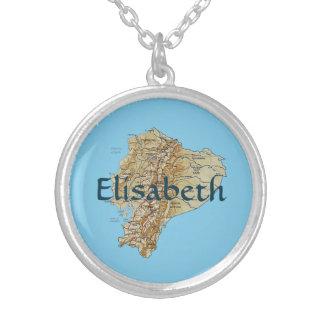 Ecuador Map + Name Necklace