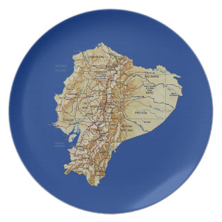 Ecuador Map Plate