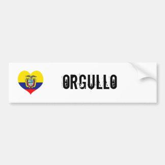 Ecuador orgullo(pride) car bumper sticker