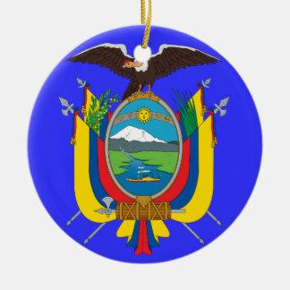 ECUADOR*- ornamento del navidad del escudo de Ornaments Para Arbol De Navidad