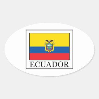 Ecuador Oval Sticker