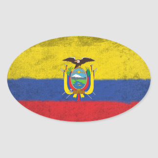 Ecuador Oval Sticker