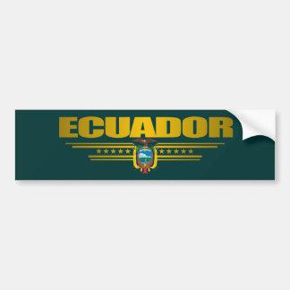 """Ecuador Pride"" Car Bumper Sticker"