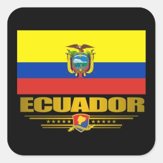 """Ecuador Pride"" Square Sticker"